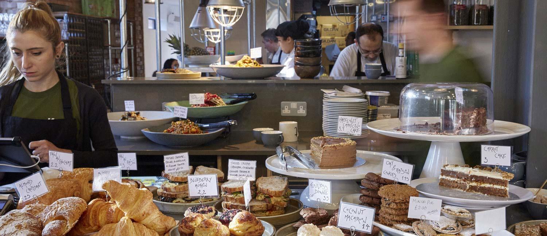 Korto restaurant sandwiches and cakes